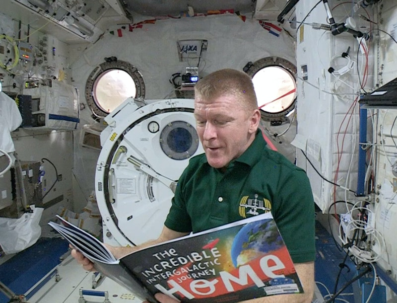 Major Tim Peake reading the Incredible Intergalactic Journey Home from the International Space Station